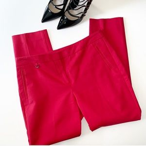 ADRIANNA PAPELL Skinny Red Pants